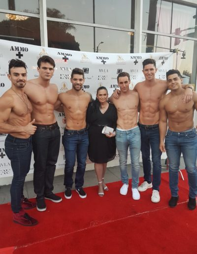 Kerrie and the finalists for the Mister Supranational USA 2018 pageant stopping traffic in West Hollywood at the live finale.